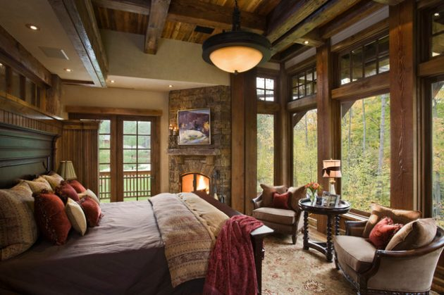 19 Charming Ideas For Decorating Rustic Bedroom Easily