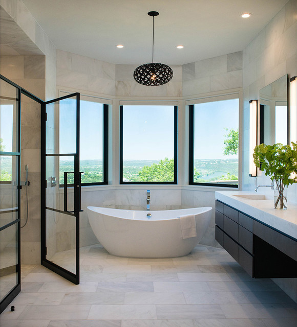 fetching contemporary bathroom design | 18 Divine Contemporary Bathroom Designs With Freestanding ...