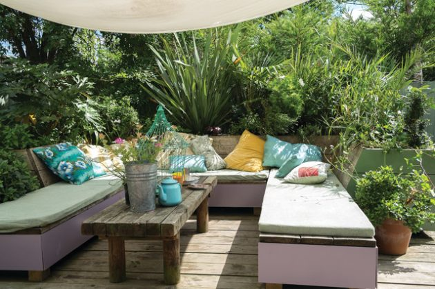 18 fascinating boho chic terrace designs for full enjoyment this summer - Kleine wasserstelle im garten ...