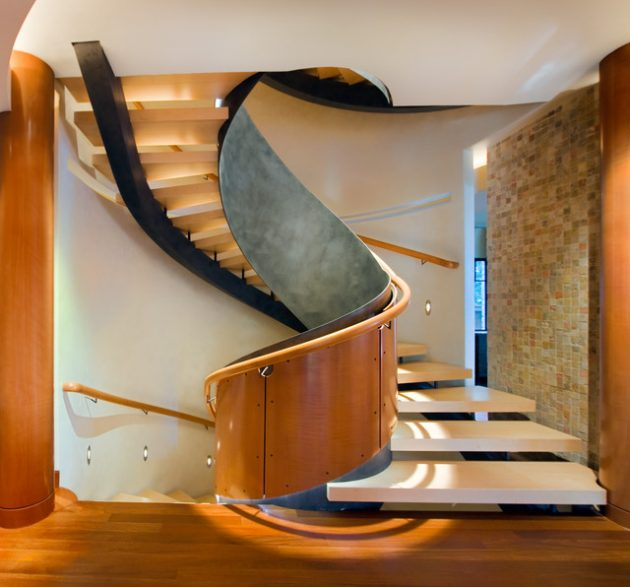 17 Gorgeous Spiral Staircase Designs To Complement The Final Look