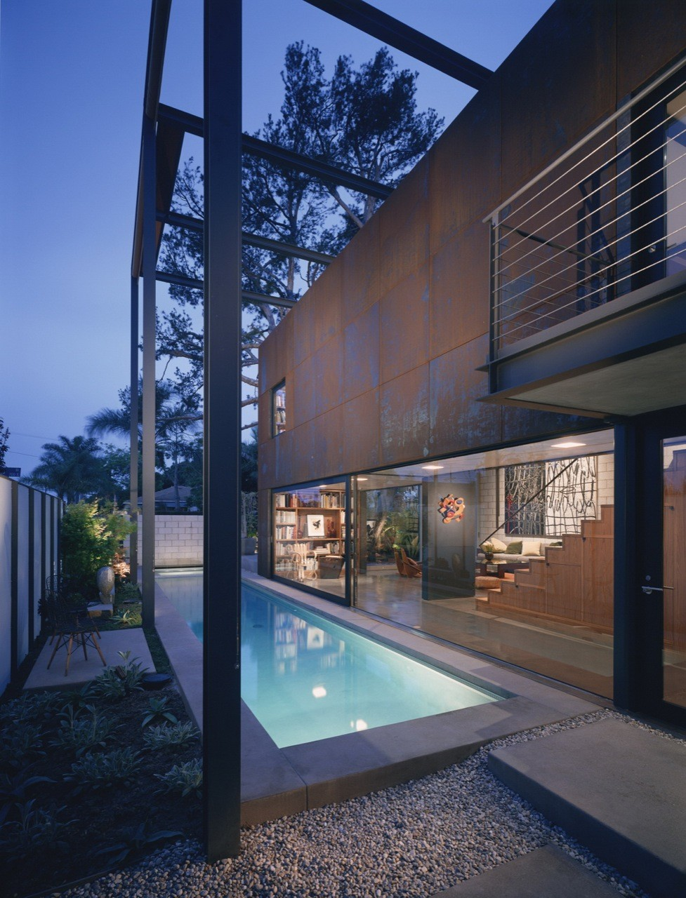 700 palms residence by ehrlich architects in venice for Pool designs venice