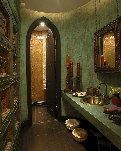 Modern Interior Design: 16 Captivating Gothic Bathroom Designs For Dramatic Ambience