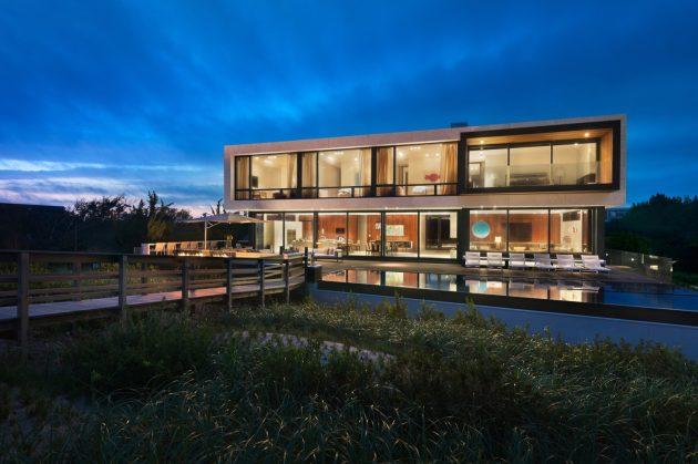 Daniels Lane Residence by Blaze Makoid Architecture in Sagaponack, NY