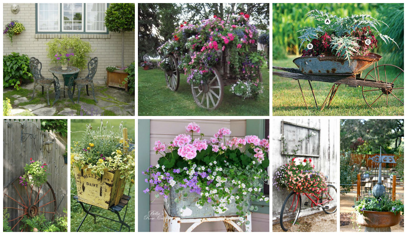Really Inspiring Repurposing Ideas For Vintage Garden ...