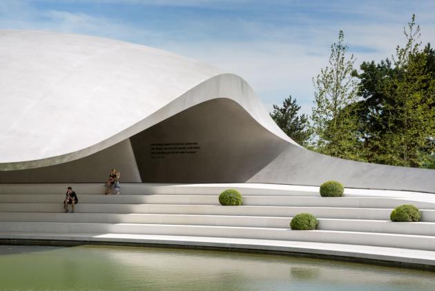Porsche Pavilion by Henn Architekten in Wolfsburg, Germany