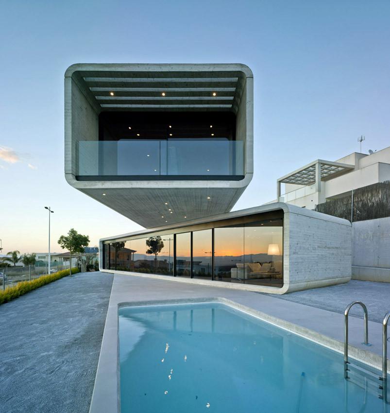 The crossed house by clavel arquitectos in la alcayna spain - Clavel arquitectos ...
