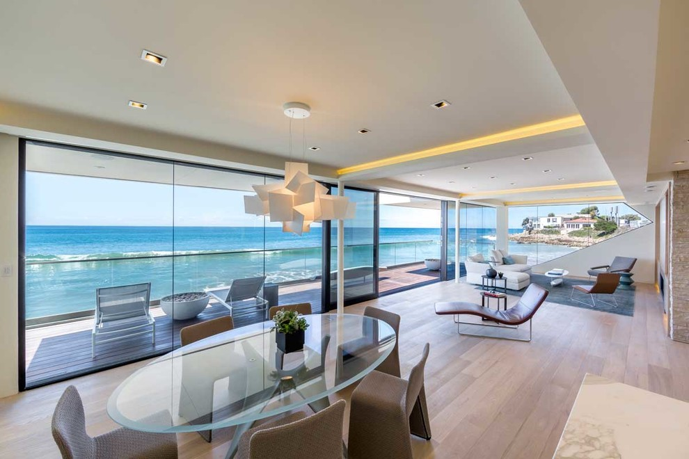 The wave house by architect mark dziewulski in malibu - Maison contemporaine malibu niles architecte ...
