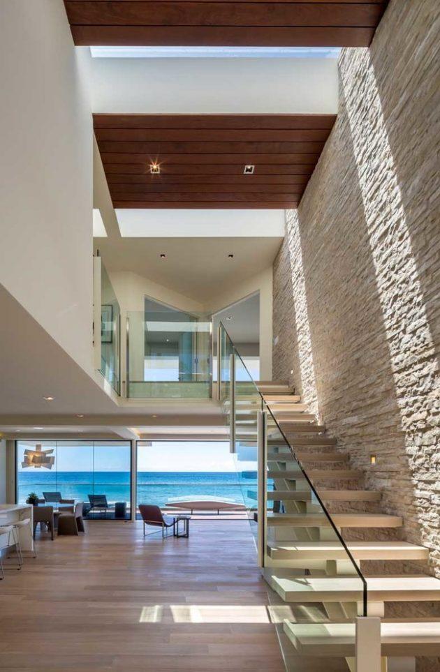 The Wave House by Architect Mark Dziewulski in Malibu Beach, California