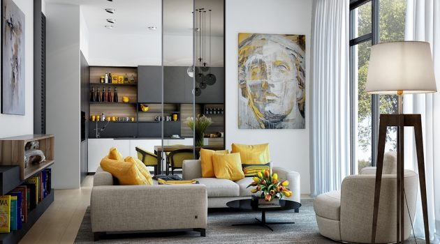 18 Inspirational Ideas For Decorating The Living Room With Yellow Accents