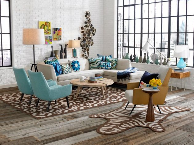 18 Magnificent Ideas For Decorating Retro Living Room