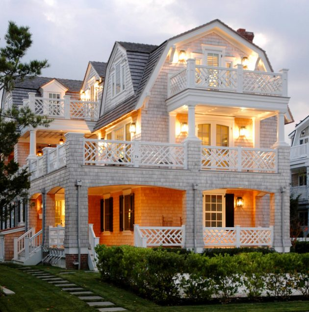 Simple Modern House Designs: Wooden Terrace Fence- Beautiful Addition To Every House