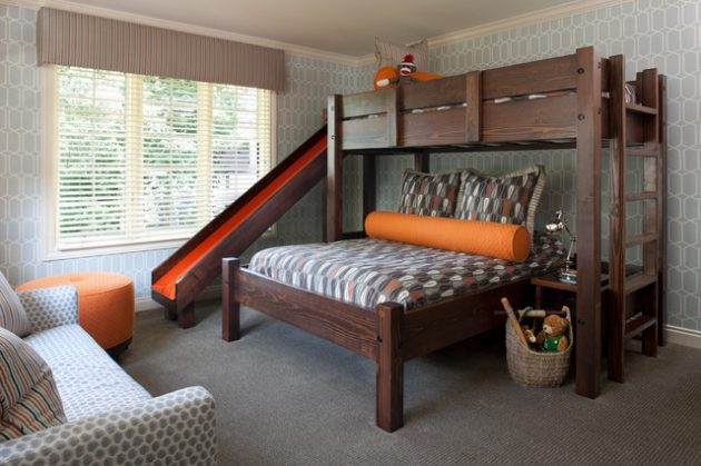 19 Captivating Ideas For Bunk Bed With Slide That Everyone Will Adore