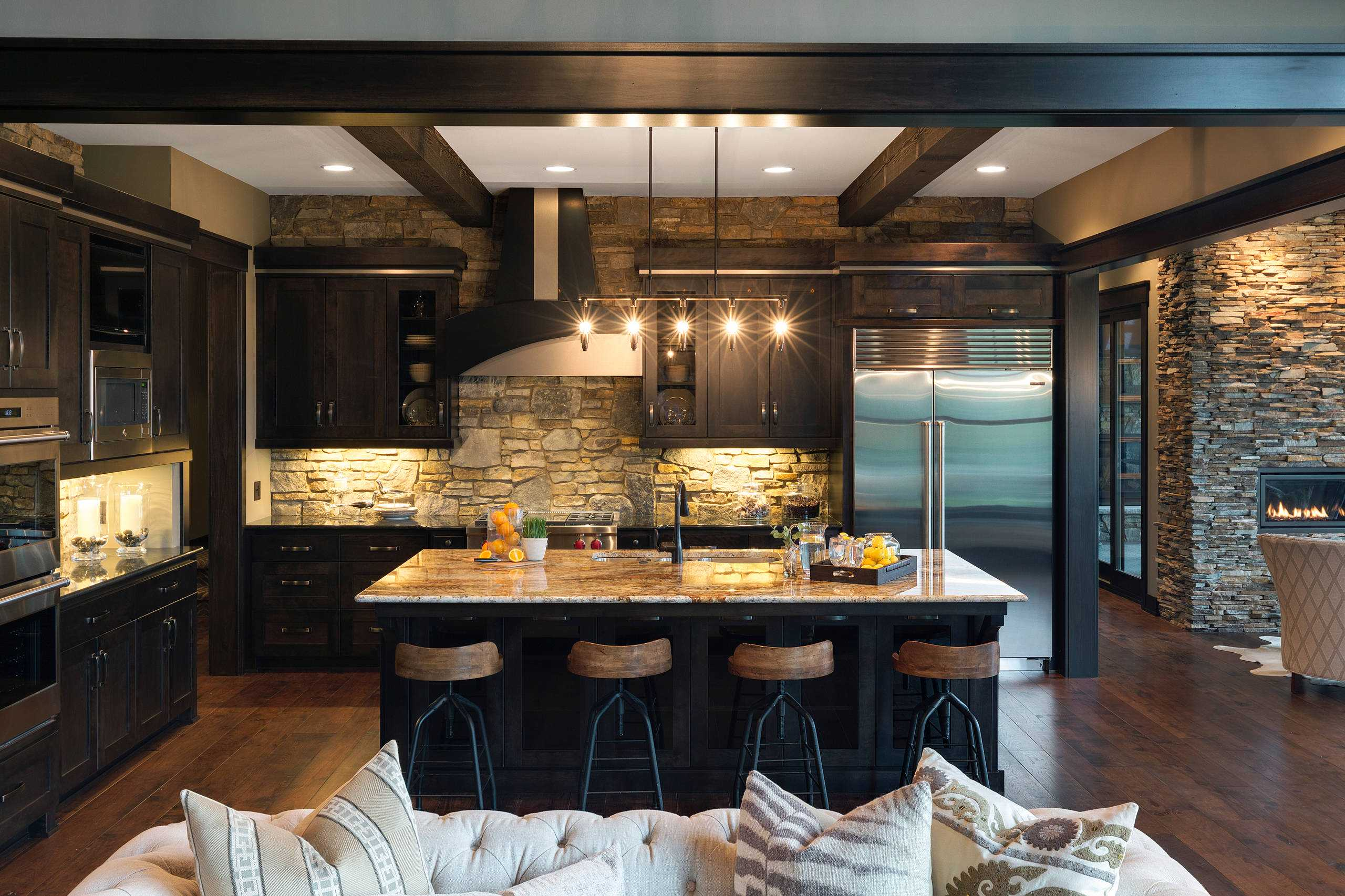 kitchen cabin counter cabinets simple rustic transformations with for countertops cabinet granite elegance pairing
