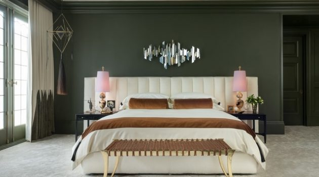 17 Enrossing Bedroom Designs With Dark Wall That Breaks The Monotony