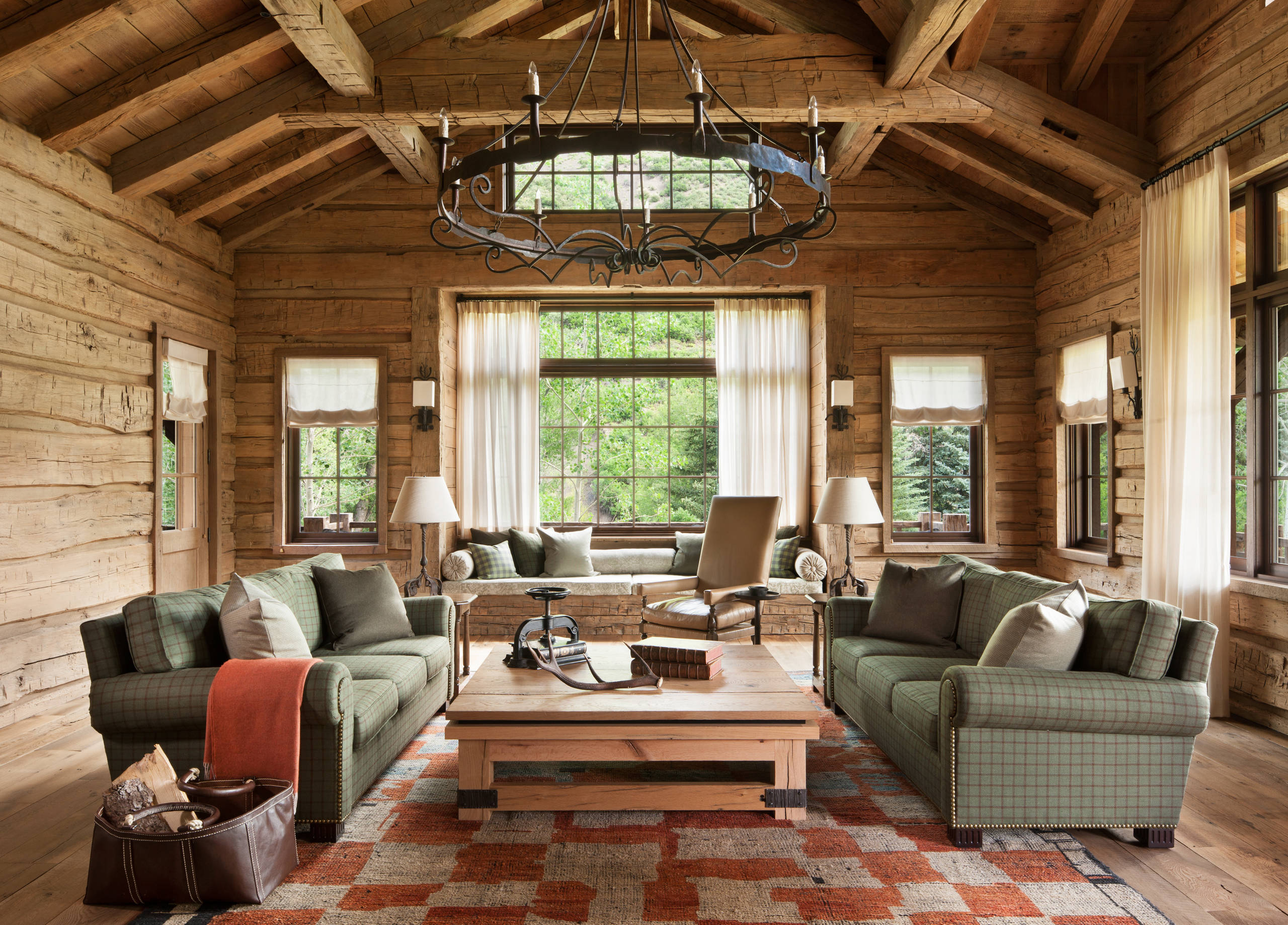 16 Sophisticated Rustic Living Room Designs You Won't Turn ... on Living Room Design Ideas  id=20541