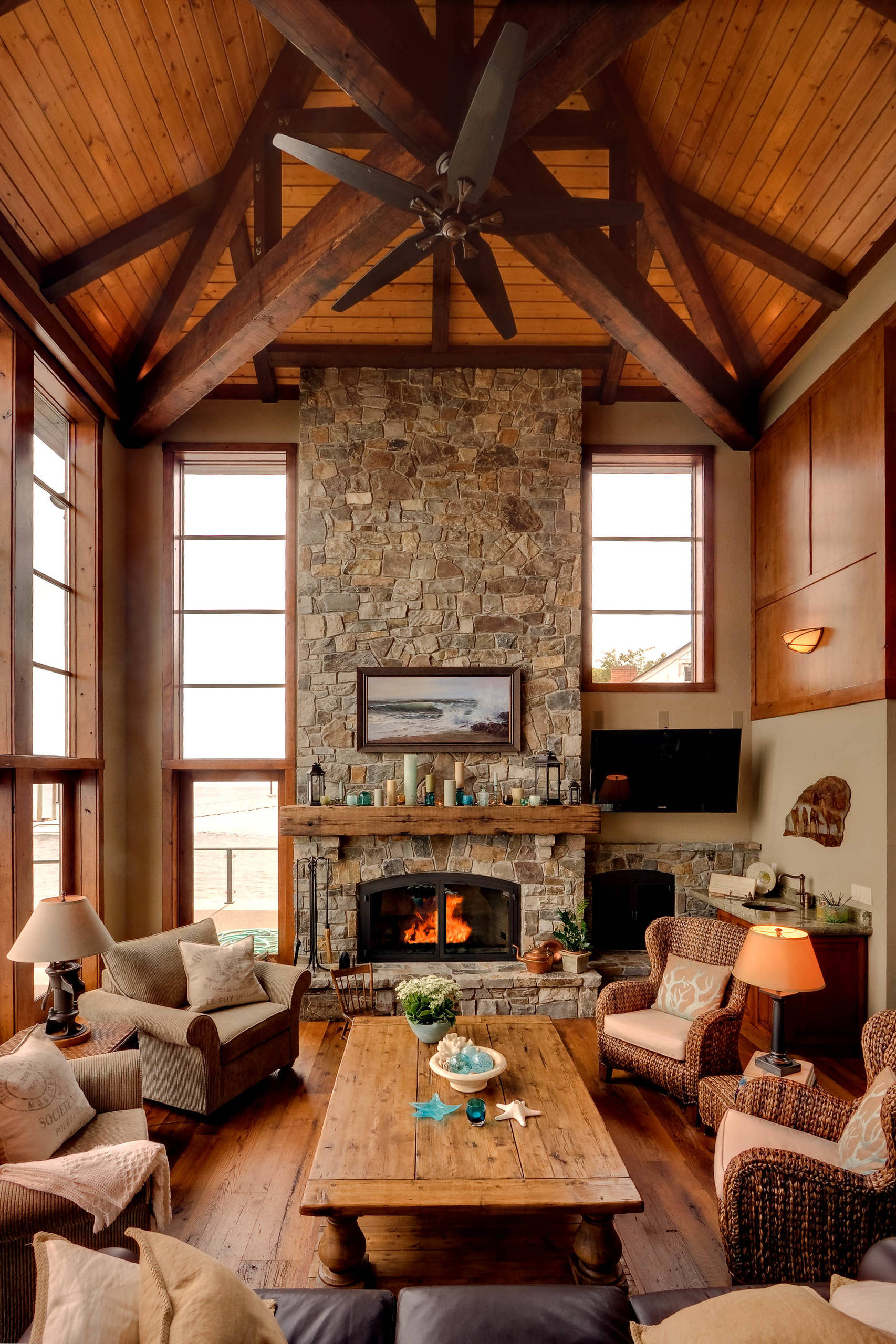 16 Sophisticated Rustic Living Room Designs You Won U0026 39 T Turn Down