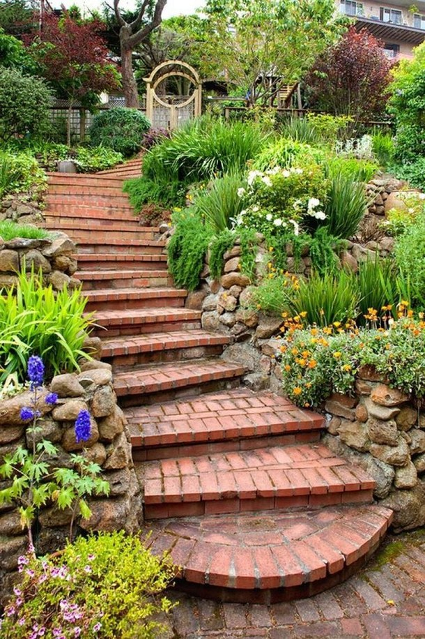 20 Really Interesting Ideas How To Design Stairs In The Garden on Backyard Stairs Design id=41891