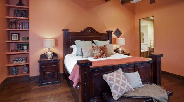 19 Magnificent Bedrooms Designs With Peach Walls