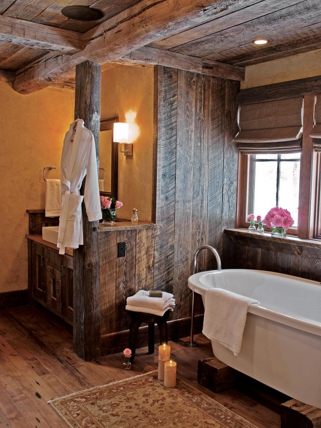 16 Gorgeous Bathroom Designs That Abound With Rustic Charm