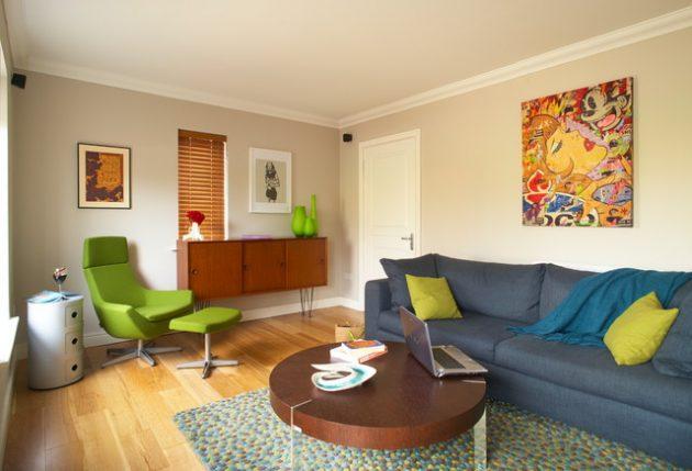 18 Magnificent Ideas For Decorating Retro Living Room