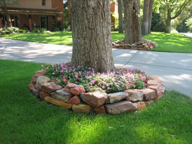 15 beautiful ideas for decorating the landscape around the - Landscaping around a tree ...