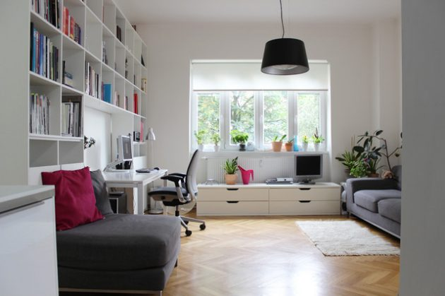 18 Super Functional Ideas For Mini Office In The Living Room