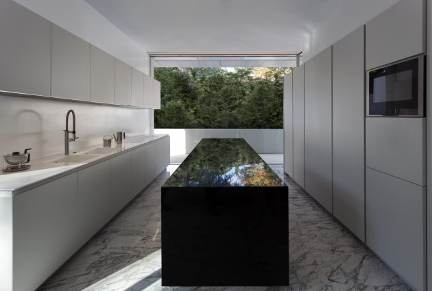 Aluminum House by Fran Silvestre Arquitectos in Madrid, Spain