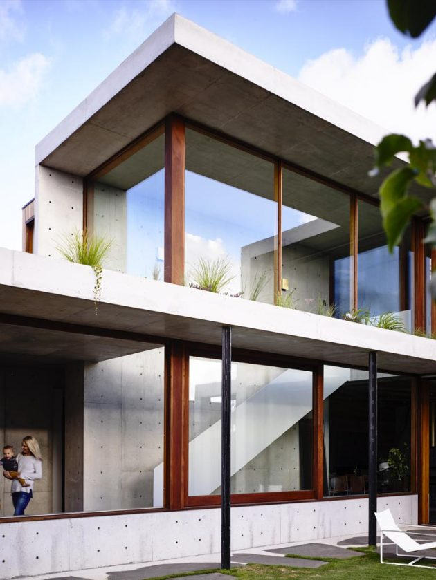 Concrete House by Auhaus Architecture in Torquay, Australia