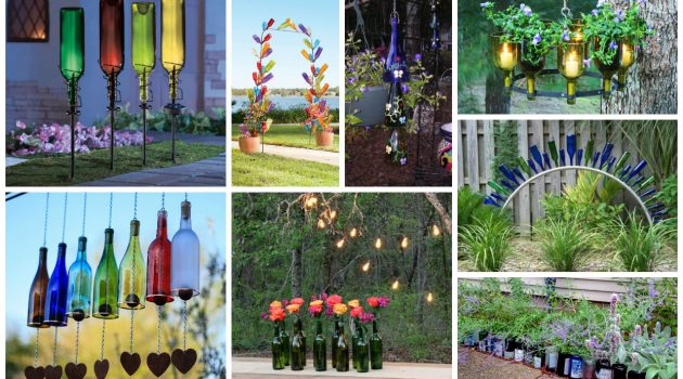 17 Super Creative DIY Glass Bottle Projects To Beautify Your Yard