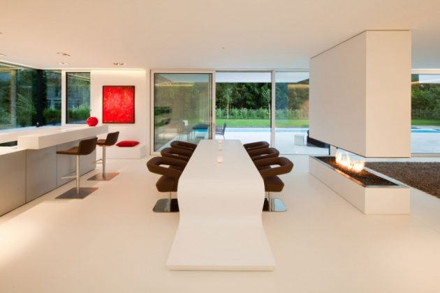 HI MACS House by Karl Dreer and Bembé Dellinger Architects in Germany
