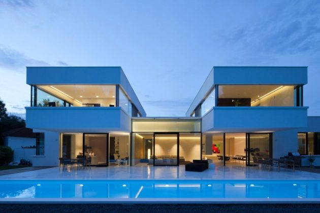 HI-MACS House by Karl Dreer and Bembé Dellinger Architects in Germany
