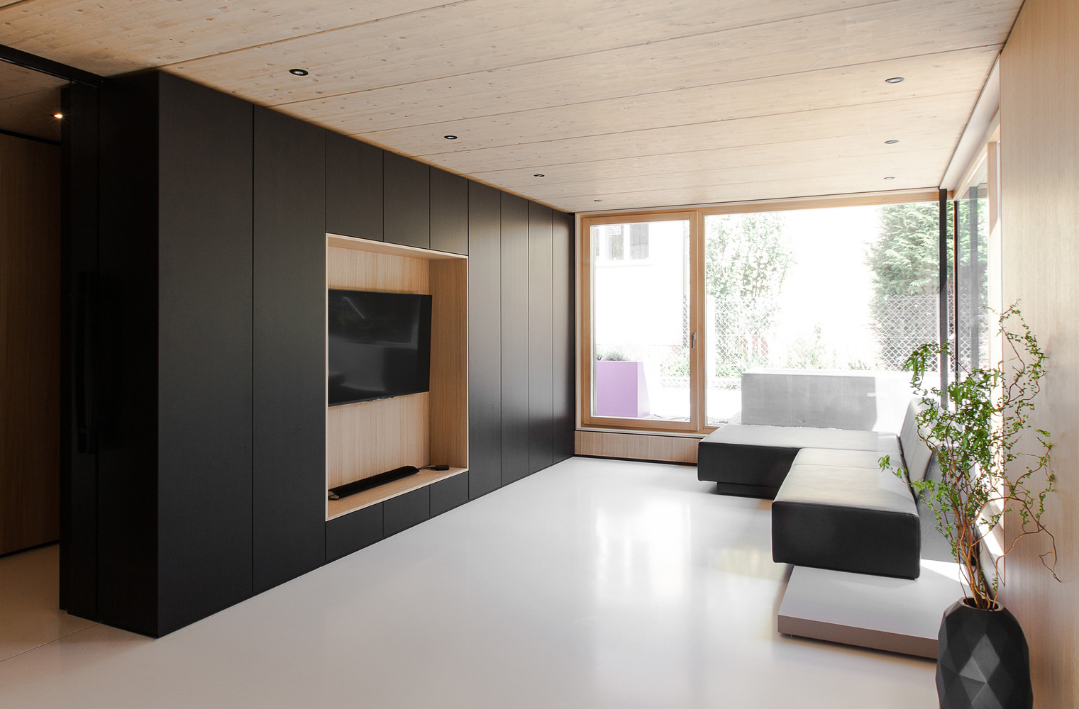 House b by format elf architekten in germany for Roof designs interior