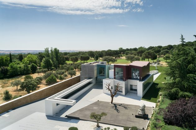 House H - A Contemporary Villa by Abiboo in Madrid, Spain