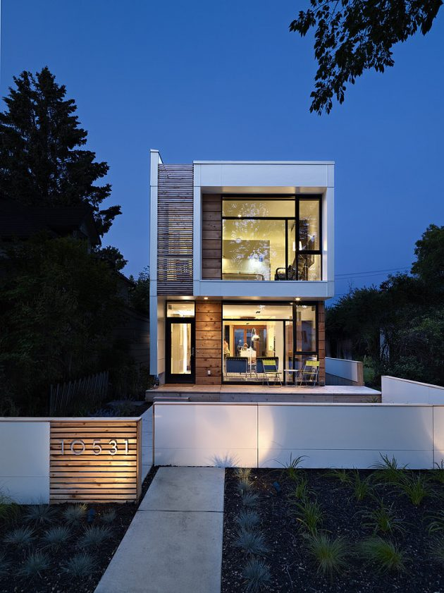 The Narrow LG House by Thirdstone in Edmonton, Canada