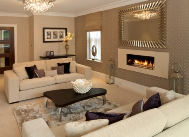 18 timeless living room designs with combinations of brown color for Chocolate living room design