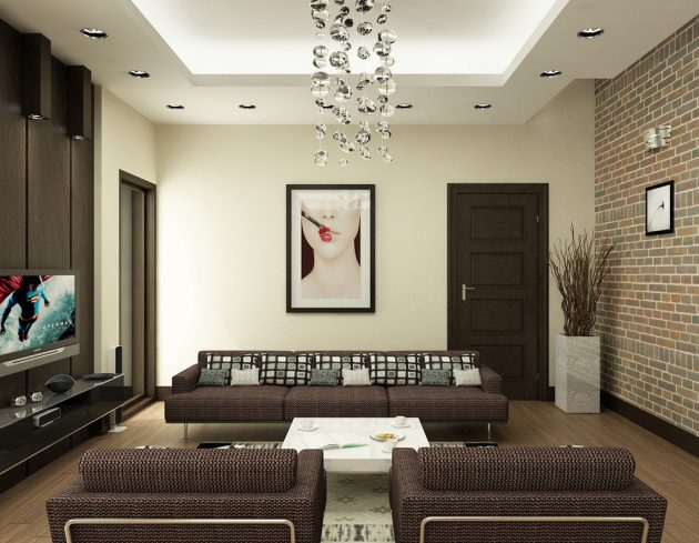18 Timeless Living Room Designs With Combinations Of Brown Color