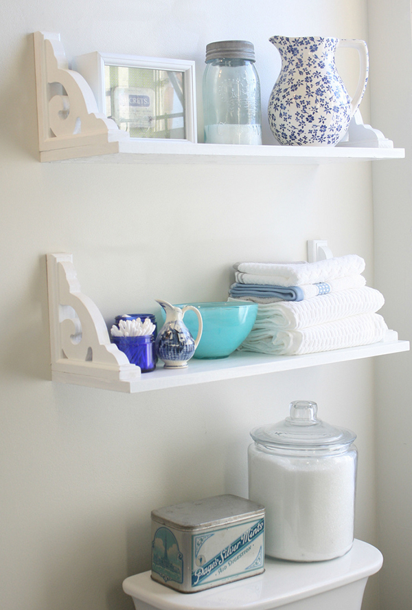 17 DIY Wooden Bathroom Shelves That You Can Make Just In One Day