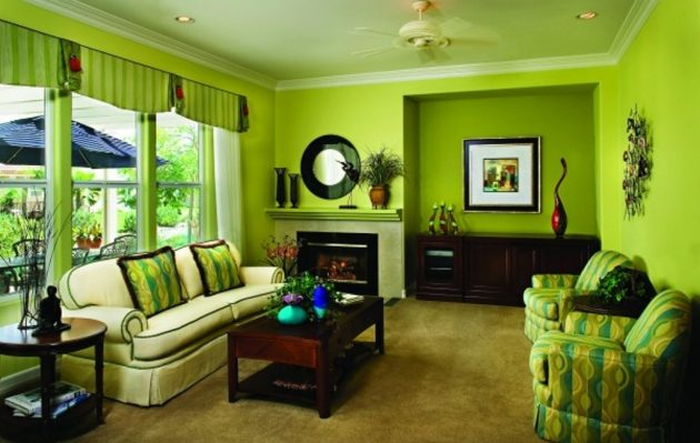 18 Astounding Green Living Room Designs That Will Catch