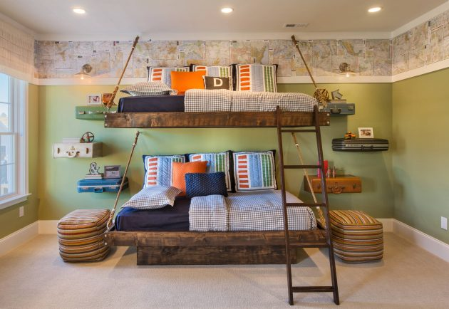 15 Charming Rustic Kids Room Designs That Strike With Warmth And Comfort