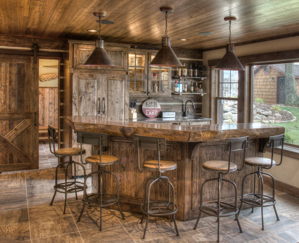 Genial 15 Distinguished Rustic Home Bar Designs For When You Really Need That Drink