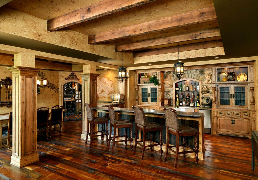 Distinguished Rustic Home Bar Designs For When You Really Need ...