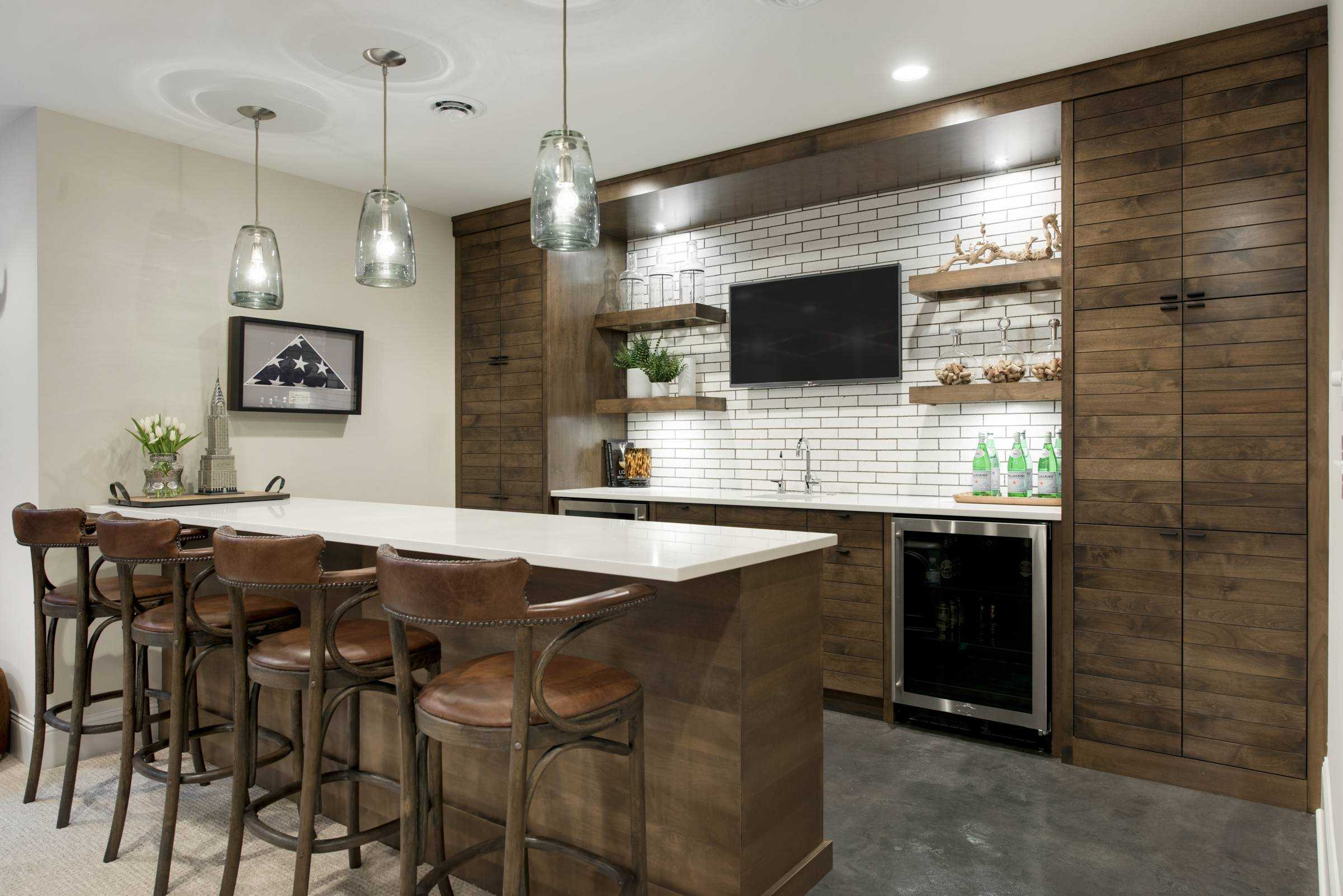 Perfect 15 Distinguished Rustic Home Bar Designs For When You Really Need That Drink