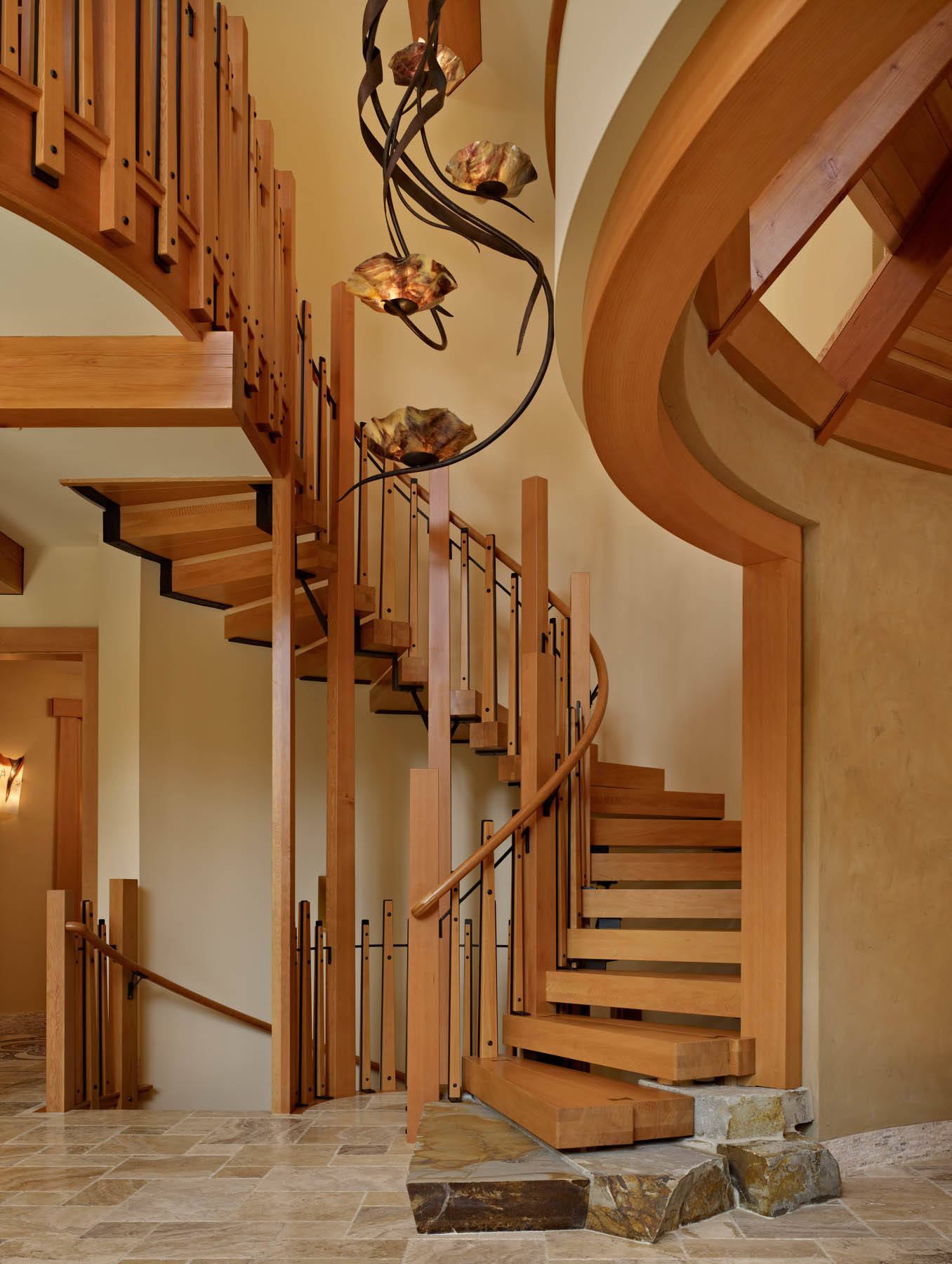 15 enchanting rustic staircase designs that you 39 re going for Rustic wood designs