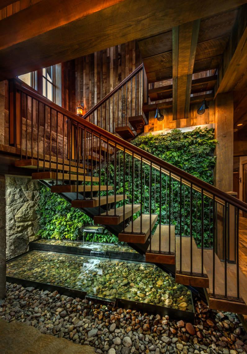 15 enchanting rustic staircase designs that you 39 re going - Exteriores de casas rusticas ...