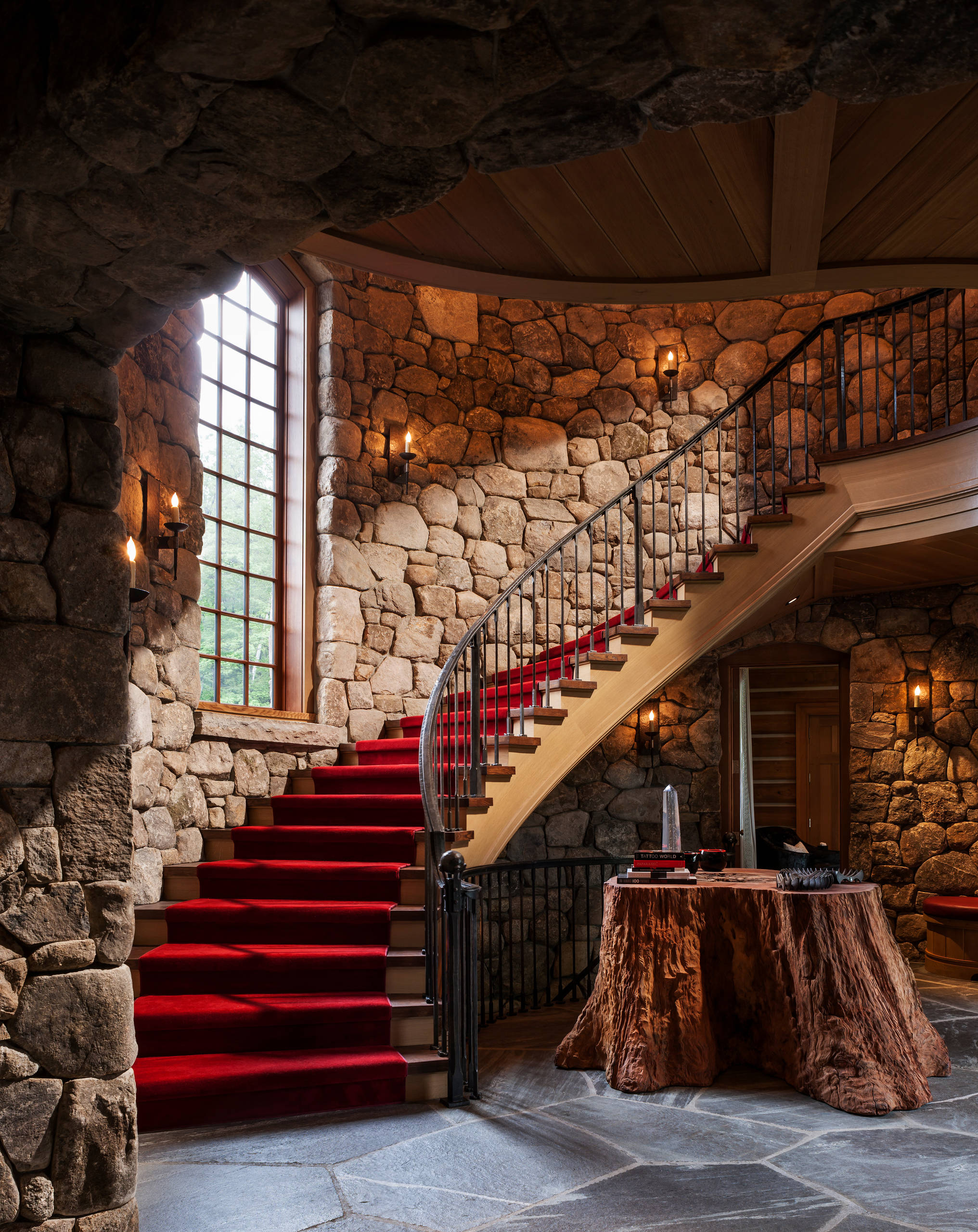 15 Enchanting Rustic Staircase Designs That Youre Going To Fall
