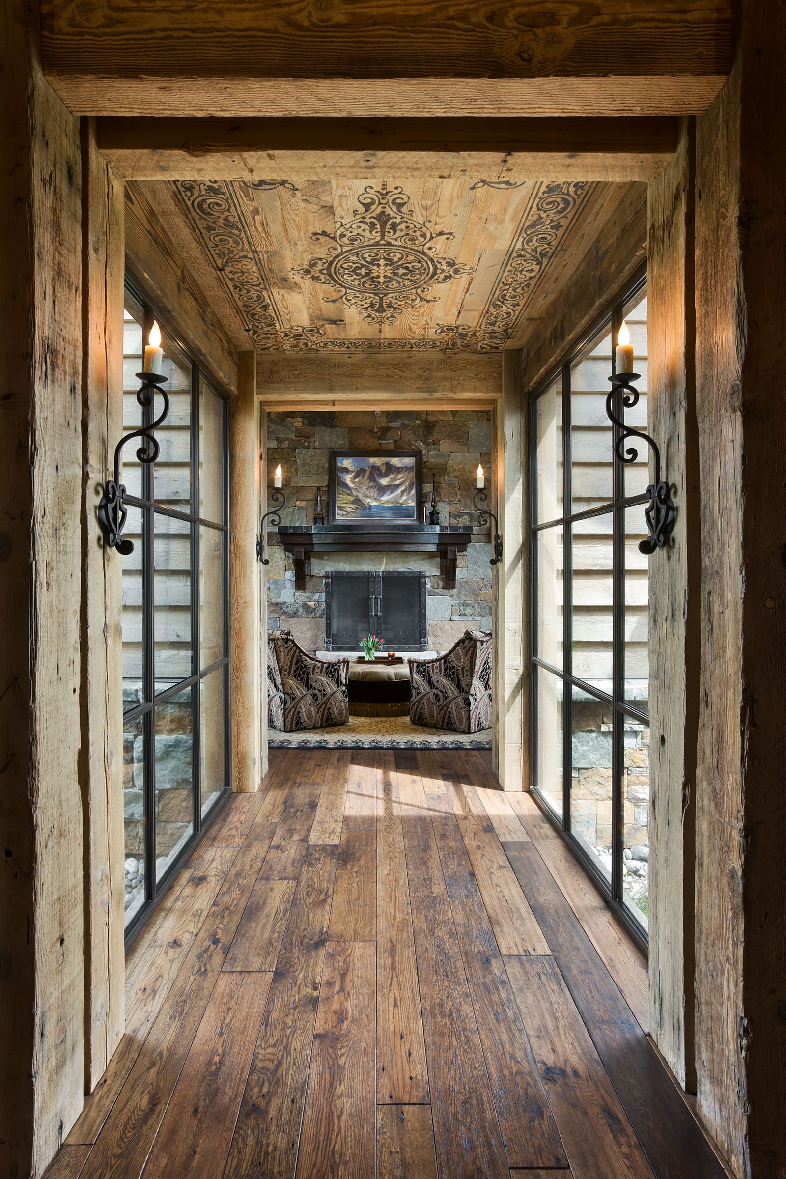 15 great rustic hallway designs that will inspire you with for Interior designs for houses