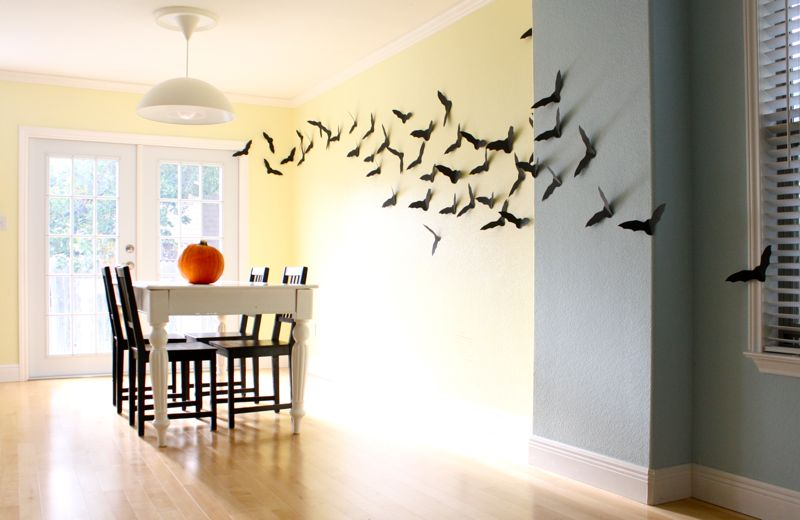 bats 15 incredibly easy diy halloween decorations with instructions