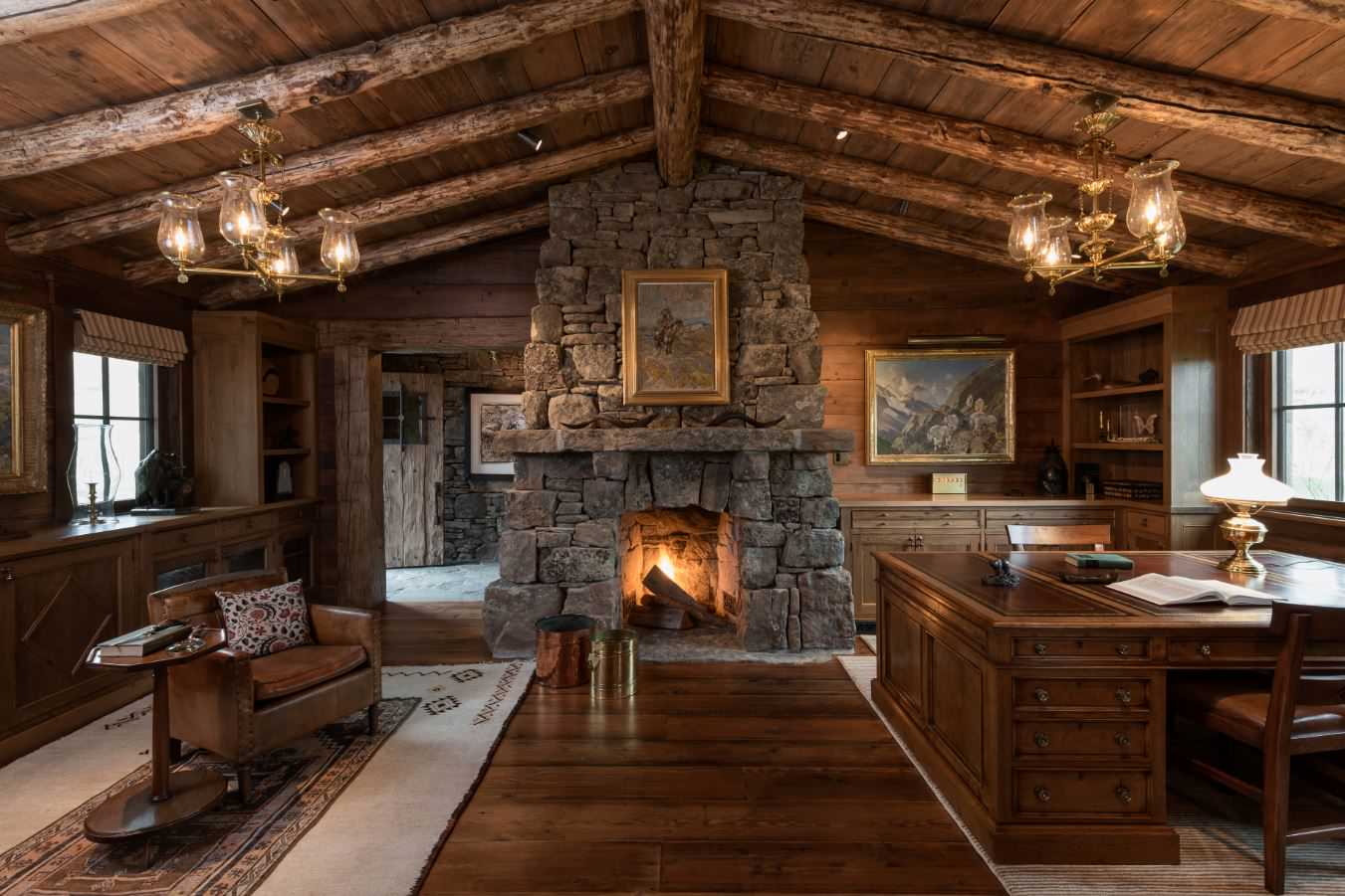 15 motivational rustic home office designs that will inspire you Rustic home architecture
