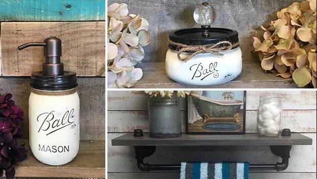 16 Fascinating Handmade Bathroom Organization Ideas