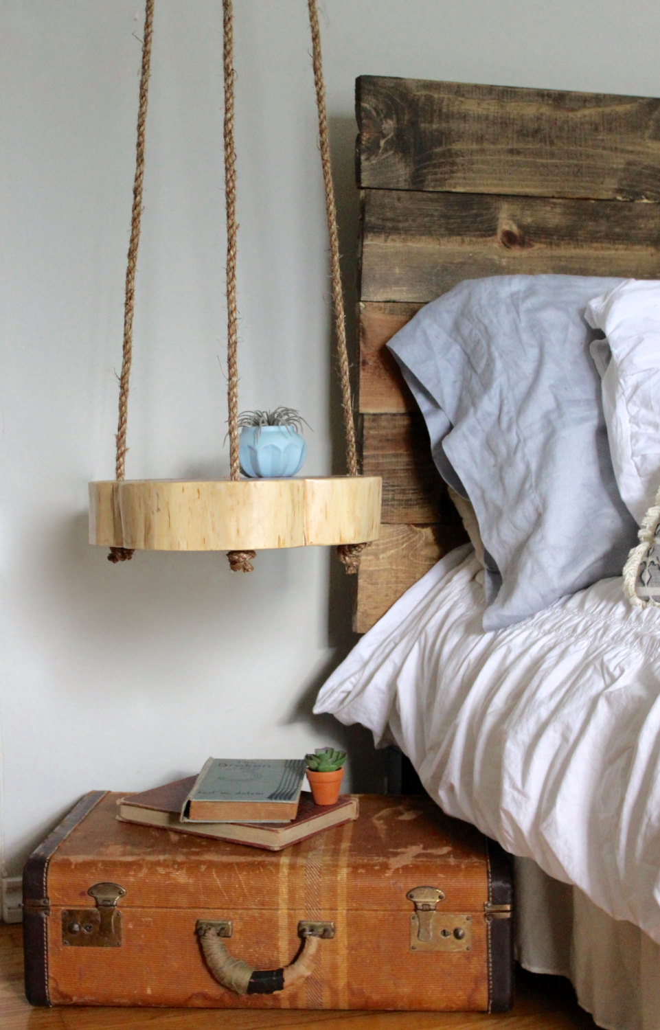 17 classy and practical nightstand designs for your bedroom Hanging Nightstand